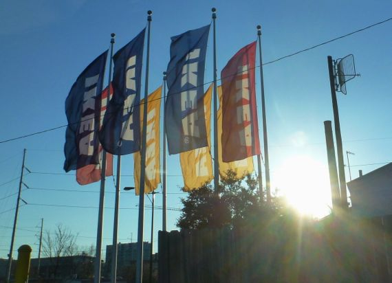 Ikea flags backlit