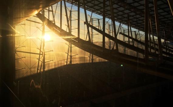 Industrial architecture dawn