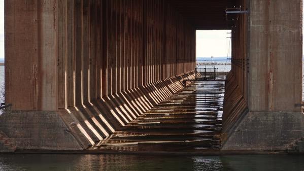 Inside ore dock