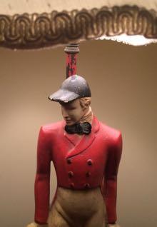 Jockey lamp statue