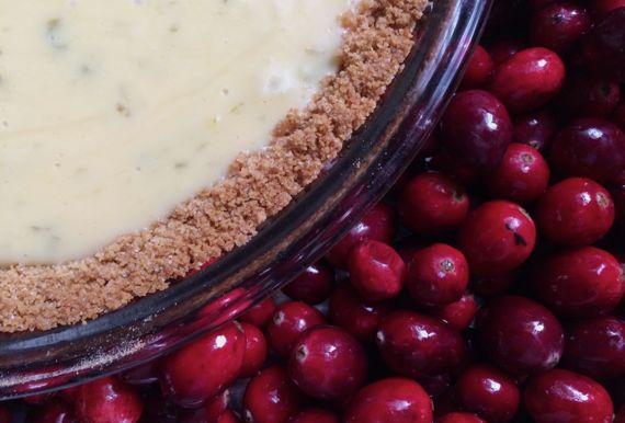 Key lime pie n cranberries