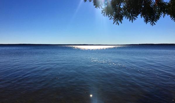 Lake sun slashed