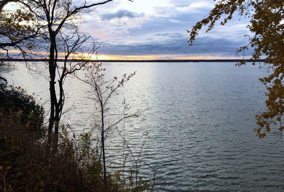 Lake thin orange layer