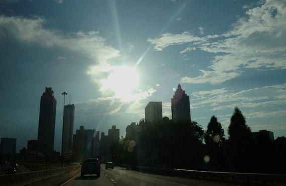 Late day sun over centro