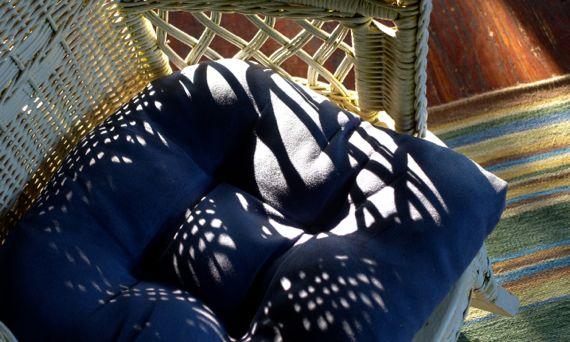 Light on chair cushion