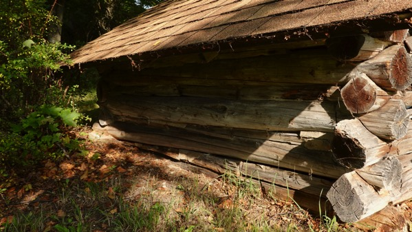 Log playhouse