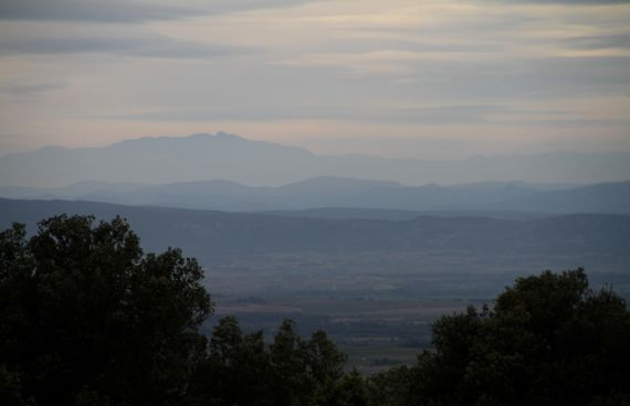 Minervois crest morning view