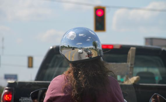 Mirror helmet
