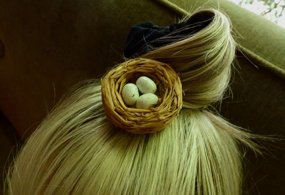 Nest on head by L