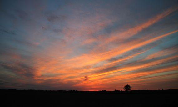 Ohio spring dusk sky