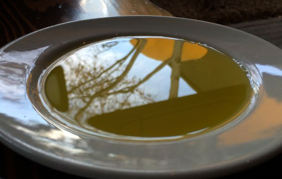 Olive oil reflection pool