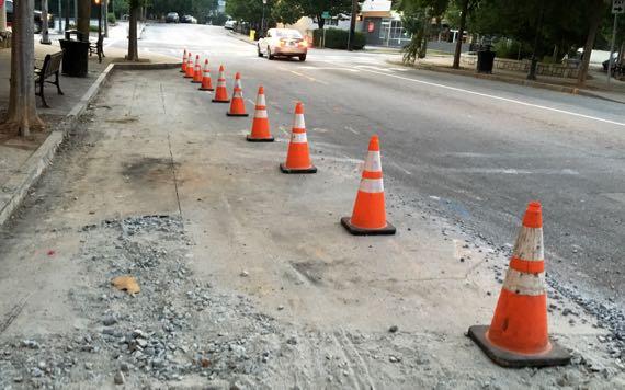 Orange cone lineup