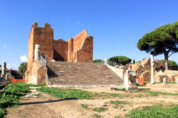 Ostia massive temple