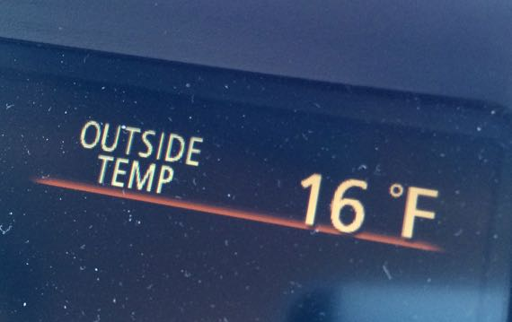 Outside temp 16