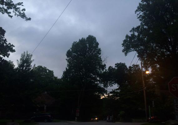 Overcast morn sky