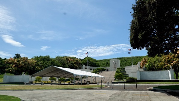 Pacific cemetery punchbowl