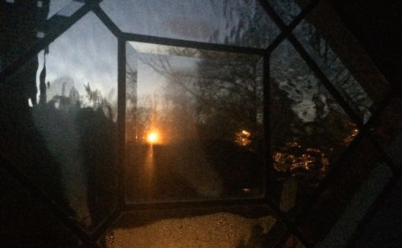 Paned window dark dusk