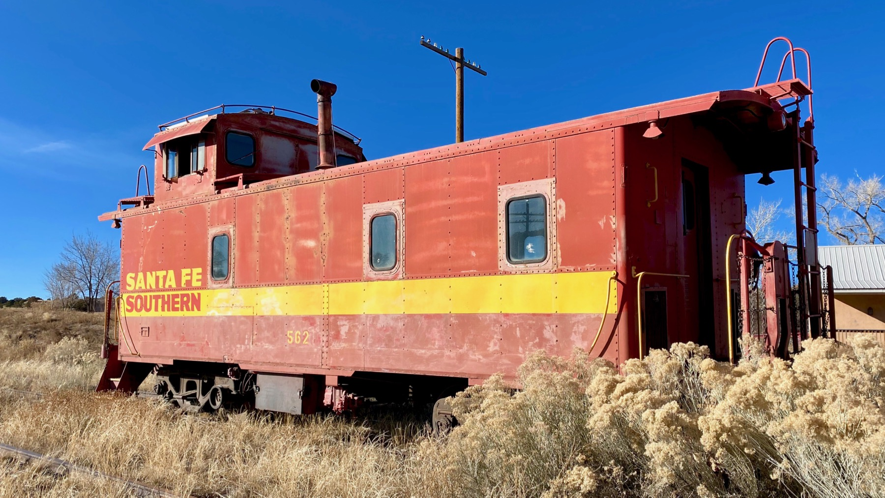 Parked caboose