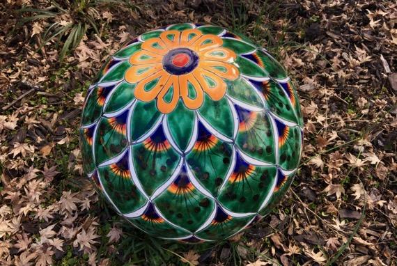 Peacock garden ball