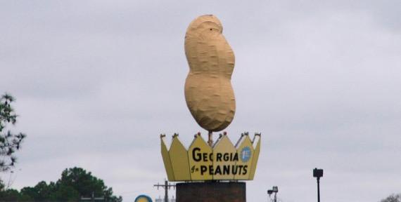 Peanut statue