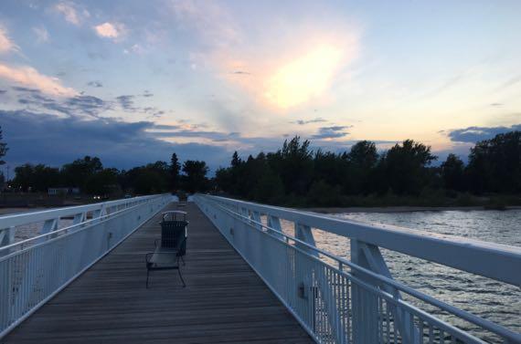 Pier view sunset