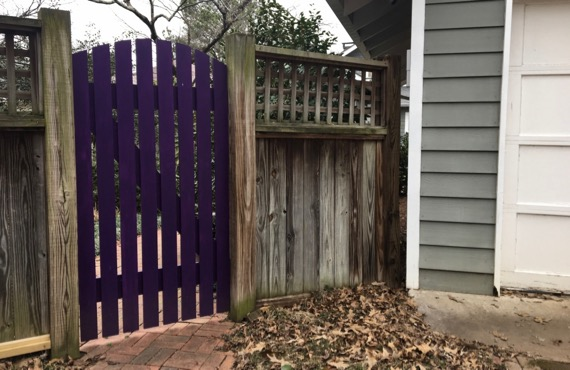 Purple gate