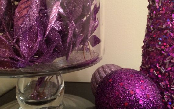 Purpley festive decorations