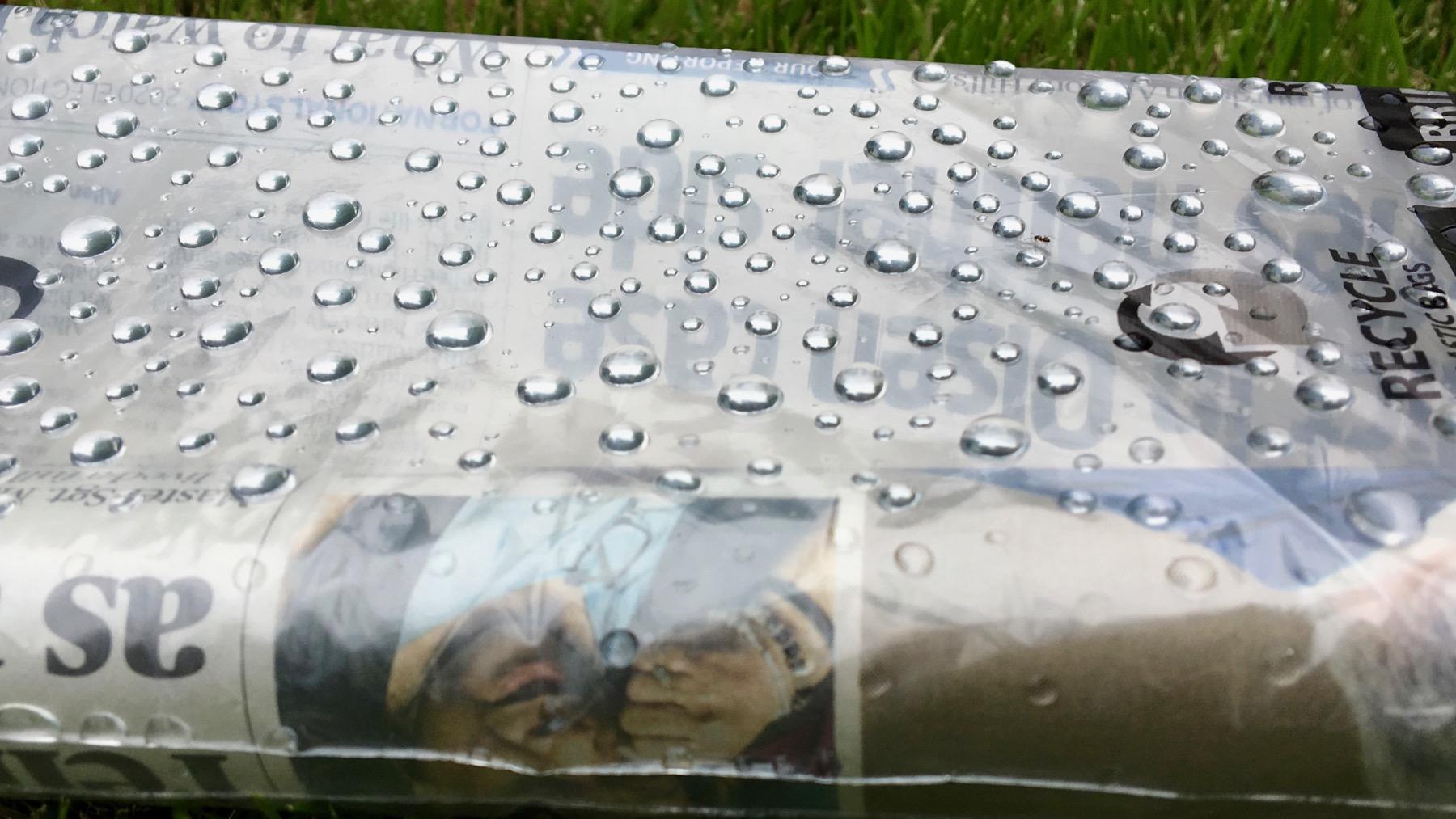 Rain on news