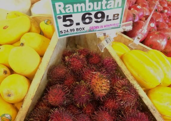 Rambutan fresh display