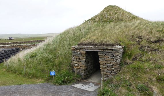 Reconstructed neolithic house