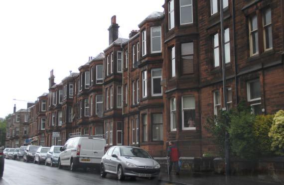 Red sandstone facades