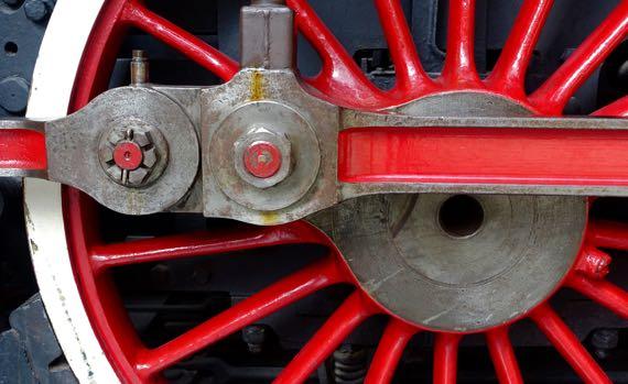 Red white wheel power