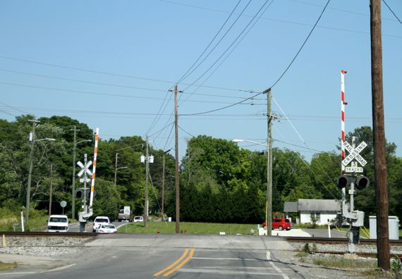 Roughest RR track crossing