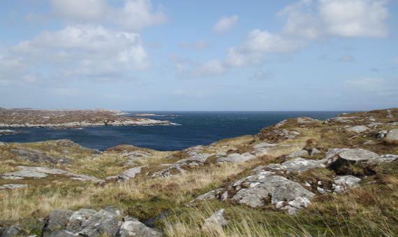 Sea rockiness view
