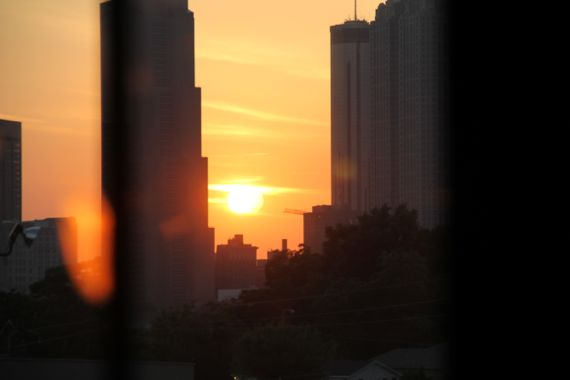 Setting sun ATL