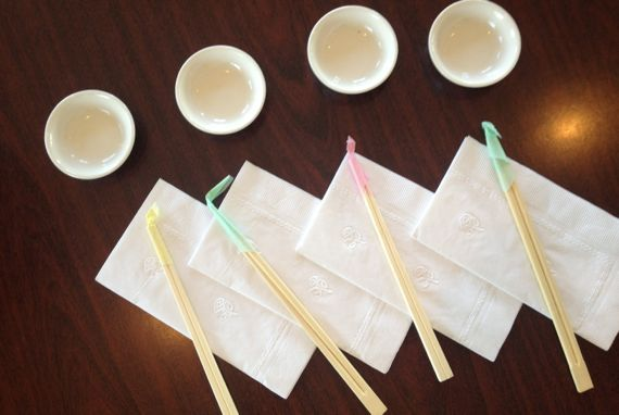 Setup sushi for four