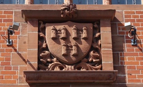 Shield on building