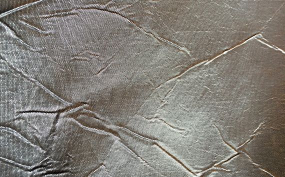 Shiny silver fabric
