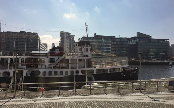 Ship in river liffey