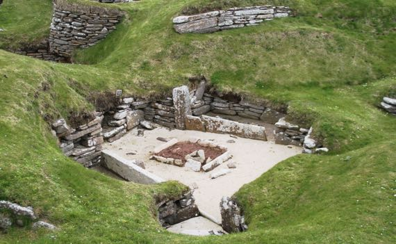 Skara brae excavated house