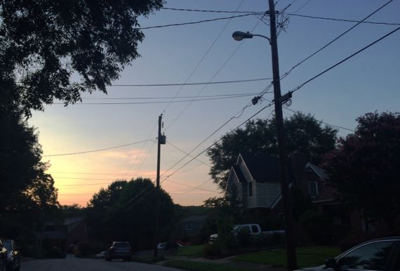 Sky almost dawn