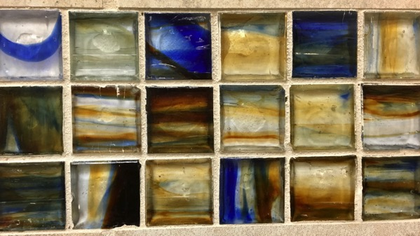 Small glass tiles