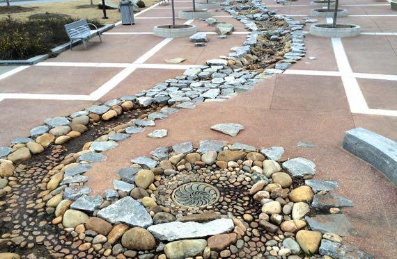 Snail spiral drain