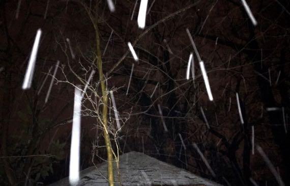 Snow airborne