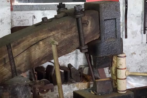 Spade smiths water powered trip hammer
