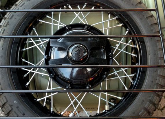 Spare tire sidecar