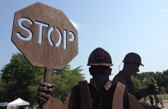 Stop sculpture at clare