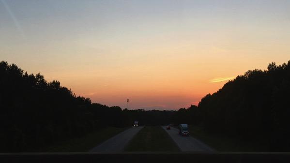 Sunset piedmont