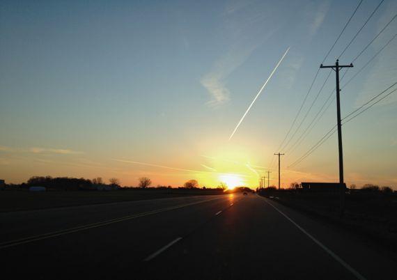 Sunset winter mount hope