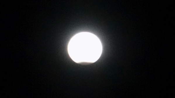 Super moon eclipsing